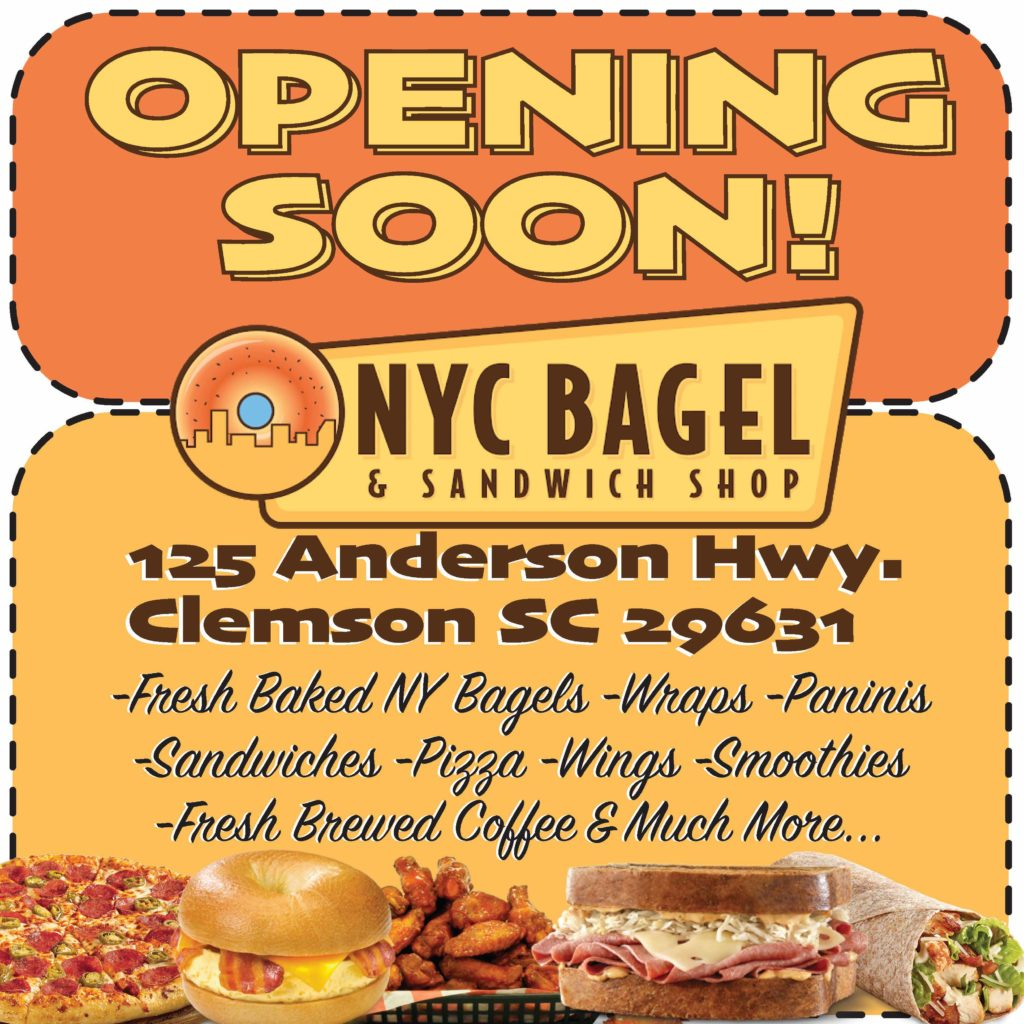 NYC Bagel Clemson, NYC Bagel South Carolina, NYC Bagel Franchise, NYC Bagel Franchise Reviews, NYC Bagel and Sandwich Shop Franchise